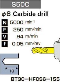 φ6 Carbide drill