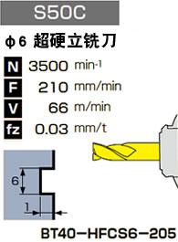 φ6 超硬立铣刀