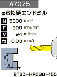 φ6超硬エンドミル