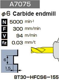φ6 Carbide endmill